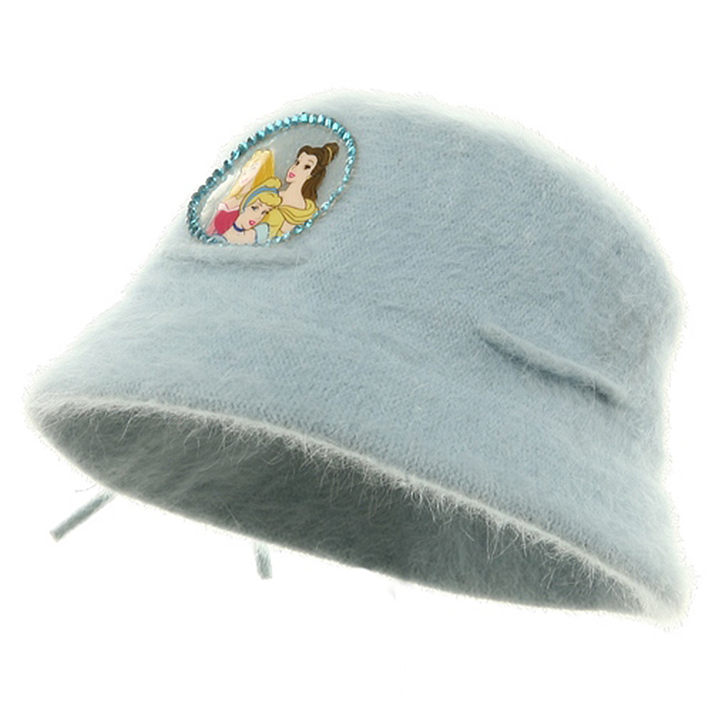 Princess Girl's Mohair Bucket Hat-Blue