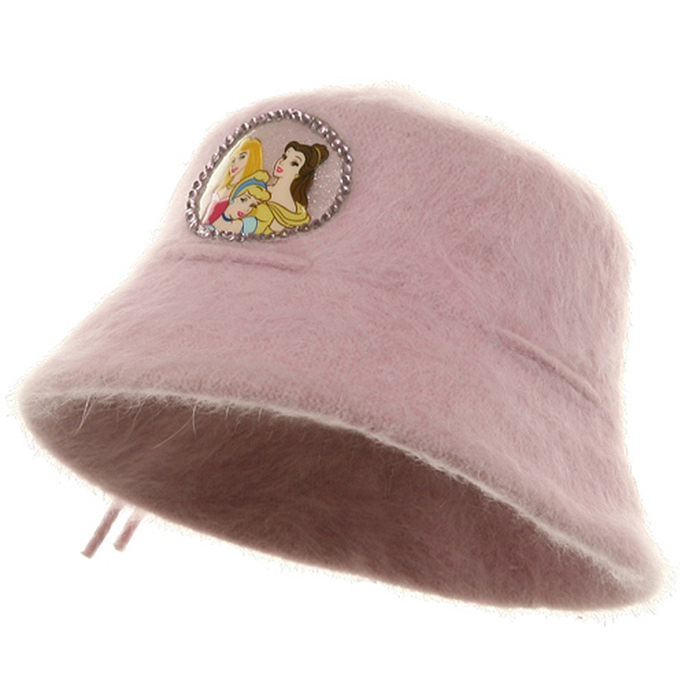 Princess Girl's Mohair Bucket Hat-Pink