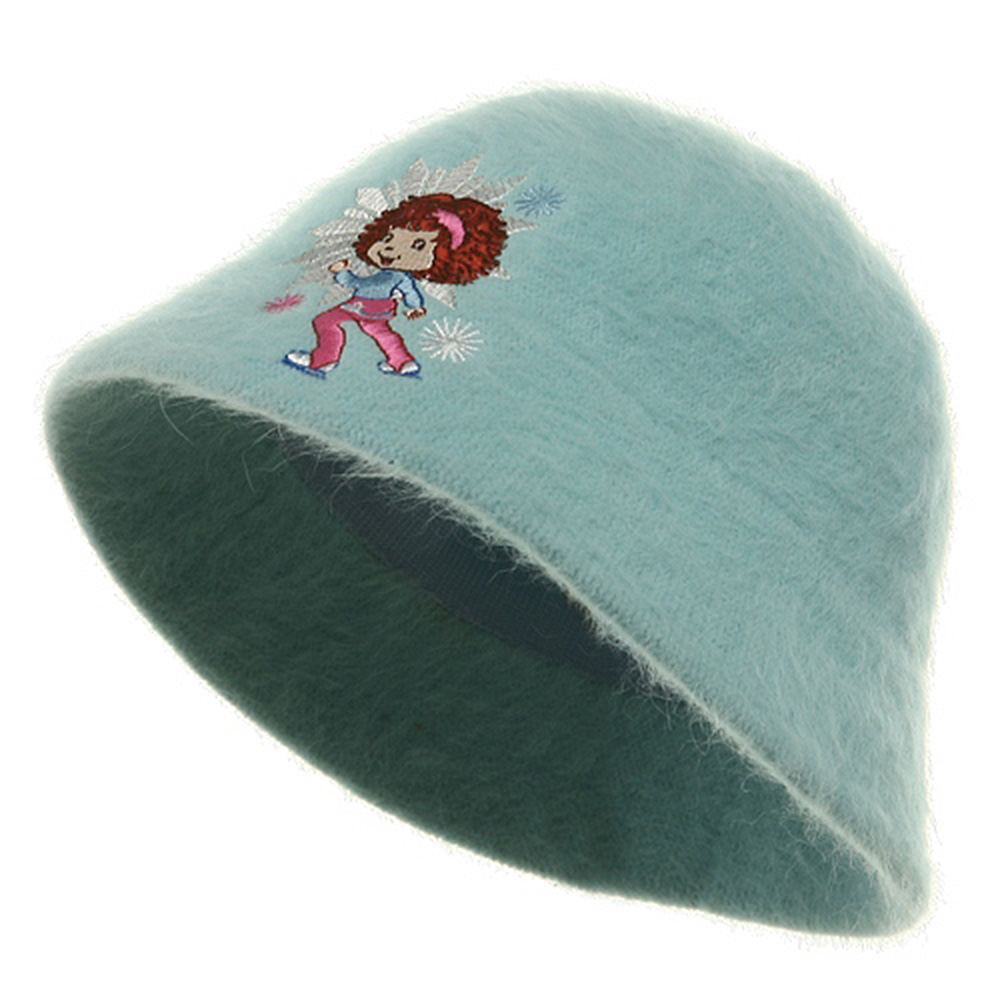 Strawberry Girl's Mohair Bucket Hat-Blue - Hats and Caps Online Shop - Hip Head Gear