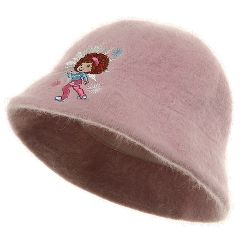 Strawberry Girl's Mohair Bucket Hat-Pink - Hats and Caps Online Shop - Hip Head Gear