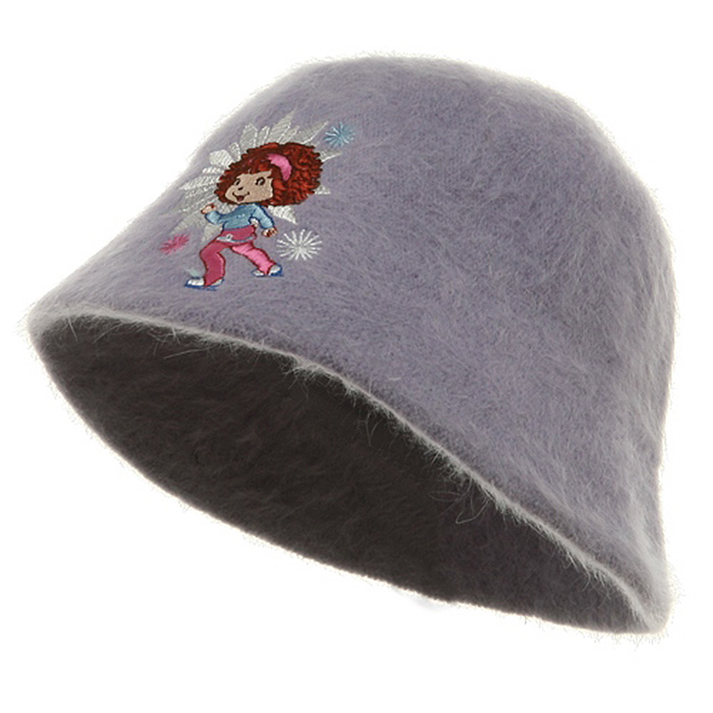 Strawberry Girl's Mohair Bucket Hat-Purple - Hats and Caps Online Shop - Hip Head Gear