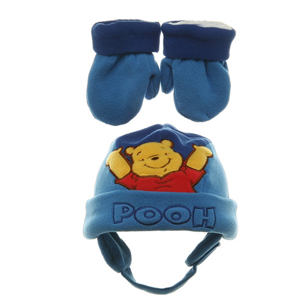 Pooh Fleece Beanie-Royal Blue Fleece - Hats and Caps Online Shop - Hip Head Gear