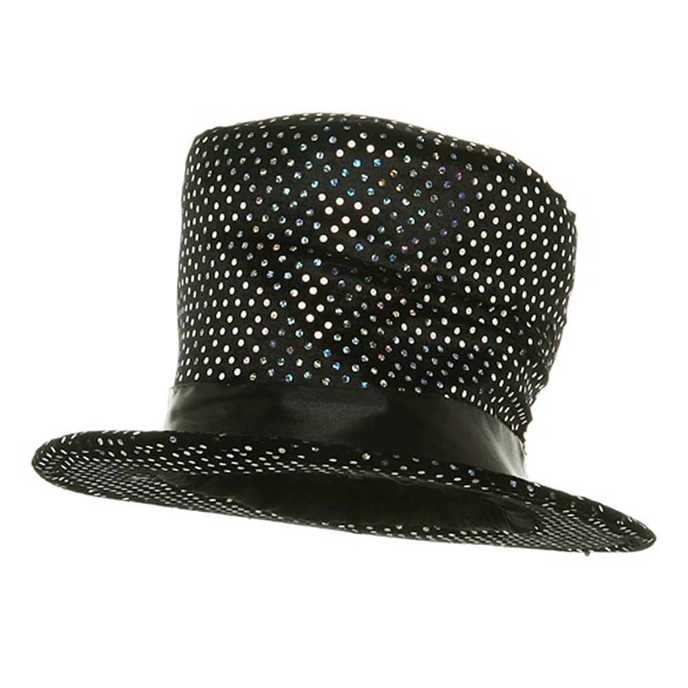 Top Hat - Black Sequin - Hats and Caps Online Shop - Hip Head Gear