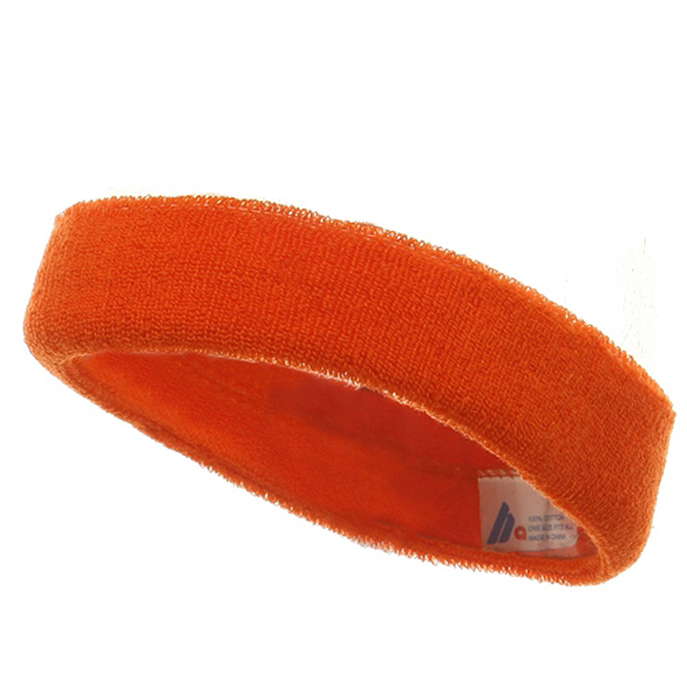 Headband (terry)-Orange - Hats and Caps Online Shop - Hip Head Gear