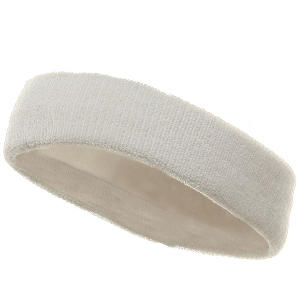Head Bands (terry)-White - Hats and Caps Online Shop - Hip Head Gear