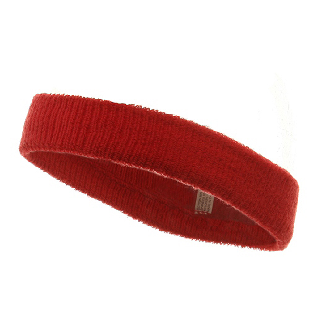 Headband (terry)-Red - Hats and Caps Online Shop - Hip Head Gear
