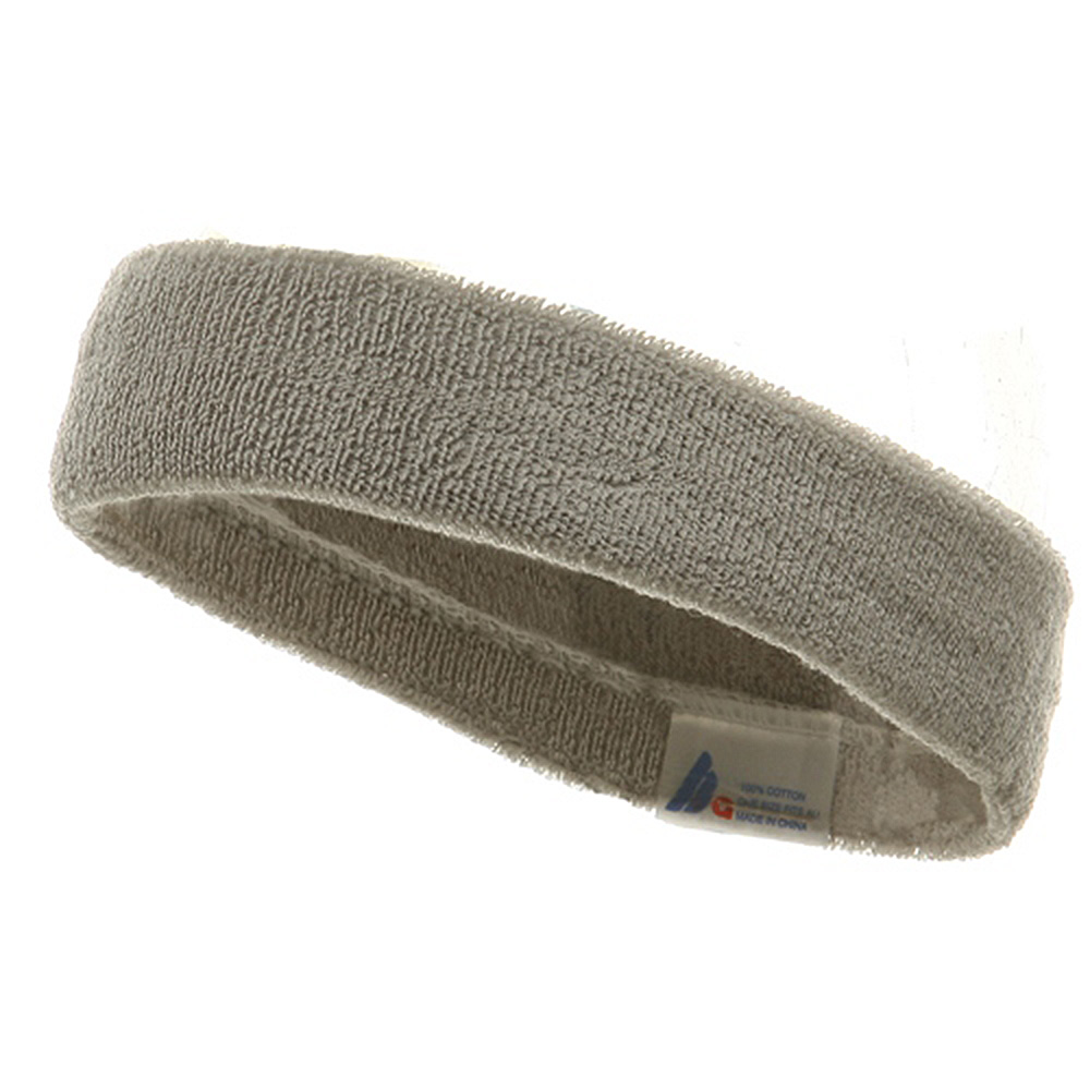 Headband (terry)-Lt Grey - Hats and Caps Online Shop - Hip Head Gear