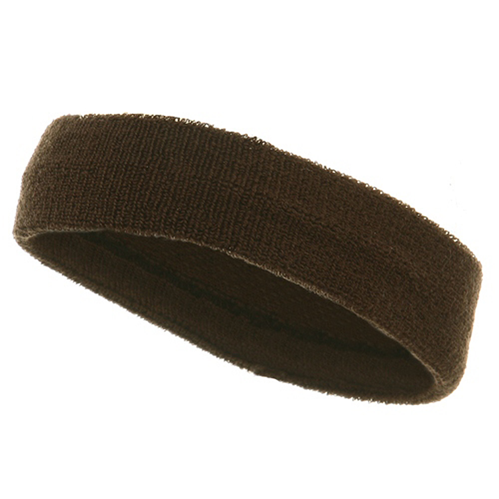 Headbands (terry)-Brown - Hats and Caps Online Shop - Hip Head Gear