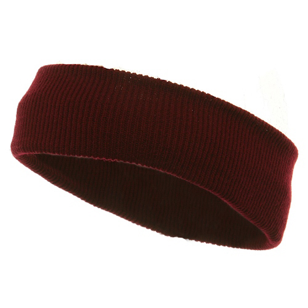 Head Bands (wide)-Maroon - Hats and Caps Online Shop - Hip Head Gear