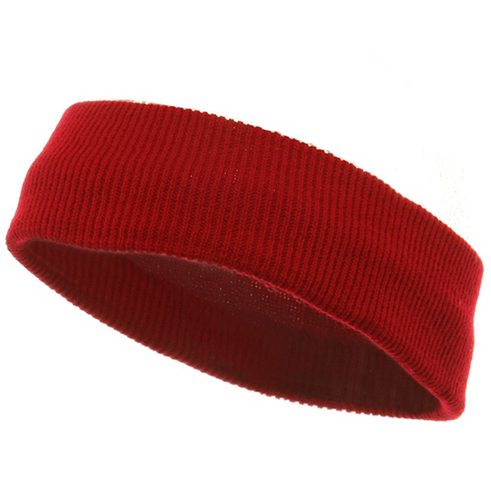 Head Bands (wide)-Red - Hats and Caps Online Shop - Hip Head Gear
