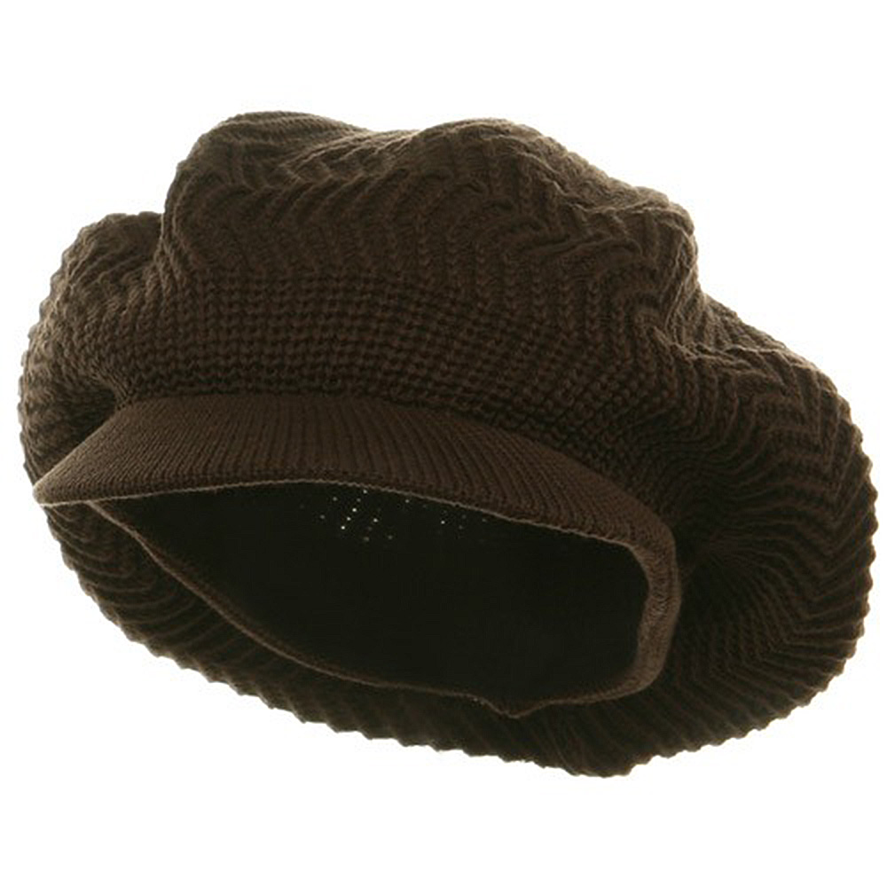 Crown Plain Beanie Visor-Brown - Hats and Caps Online Shop - Hip Head Gear