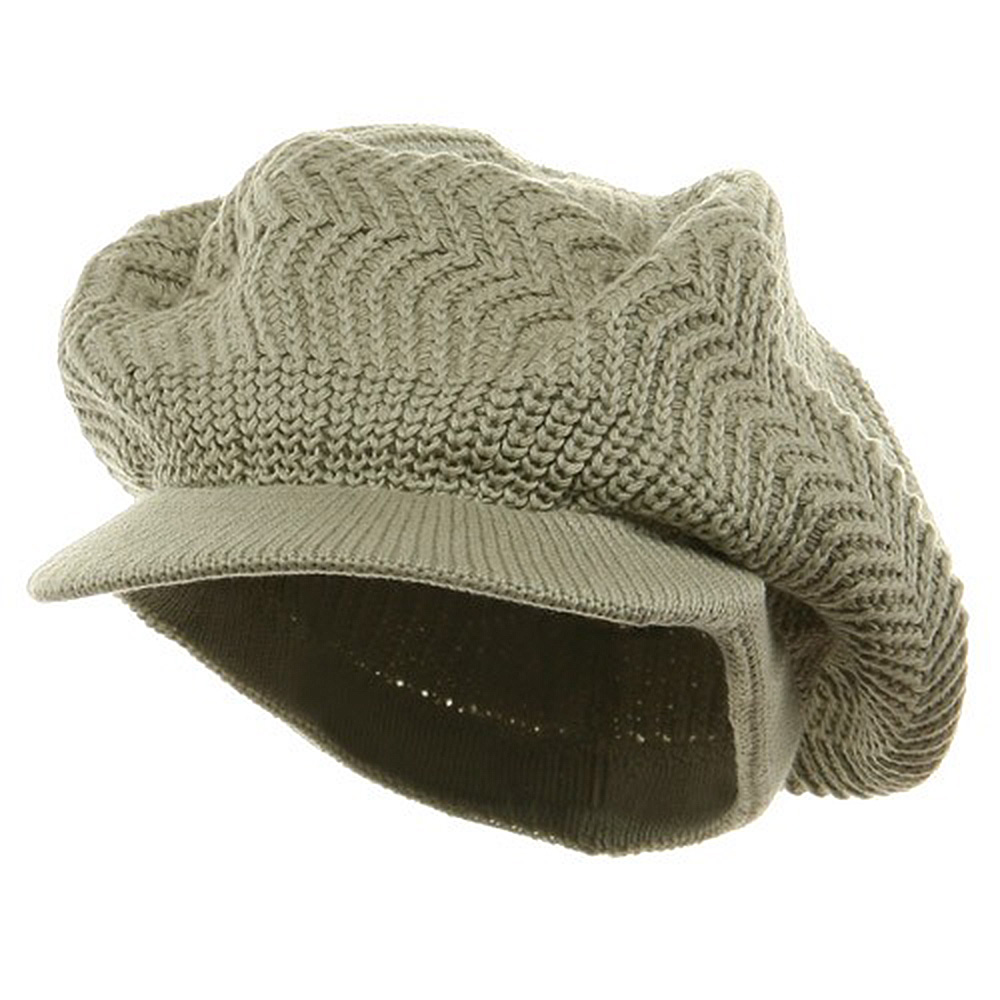 Crown Plain Beanie Visor-Sage Green - Hats and Caps Online Shop - Hip Head Gear