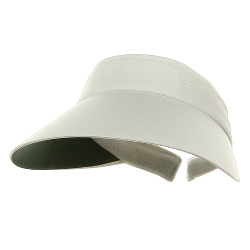 Large Peak Twill Clip On-White - Hats and Caps Online Shop - Hip Head Gear