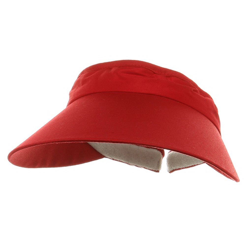 Large Peak Twill Clip Ons-Red - Hats and Caps Online Shop - Hip Head Gear