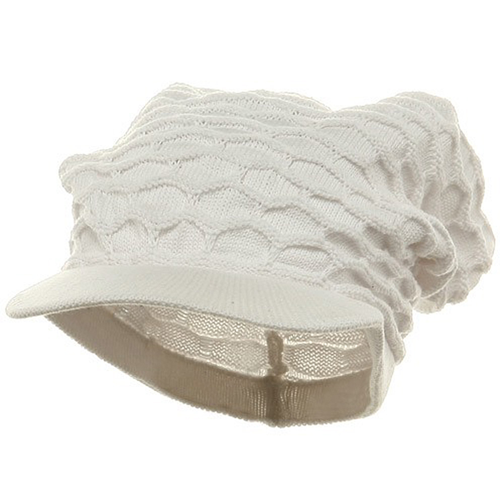 Honey Beanies Visor-White - Hats and Caps Online Shop - Hip Head Gear