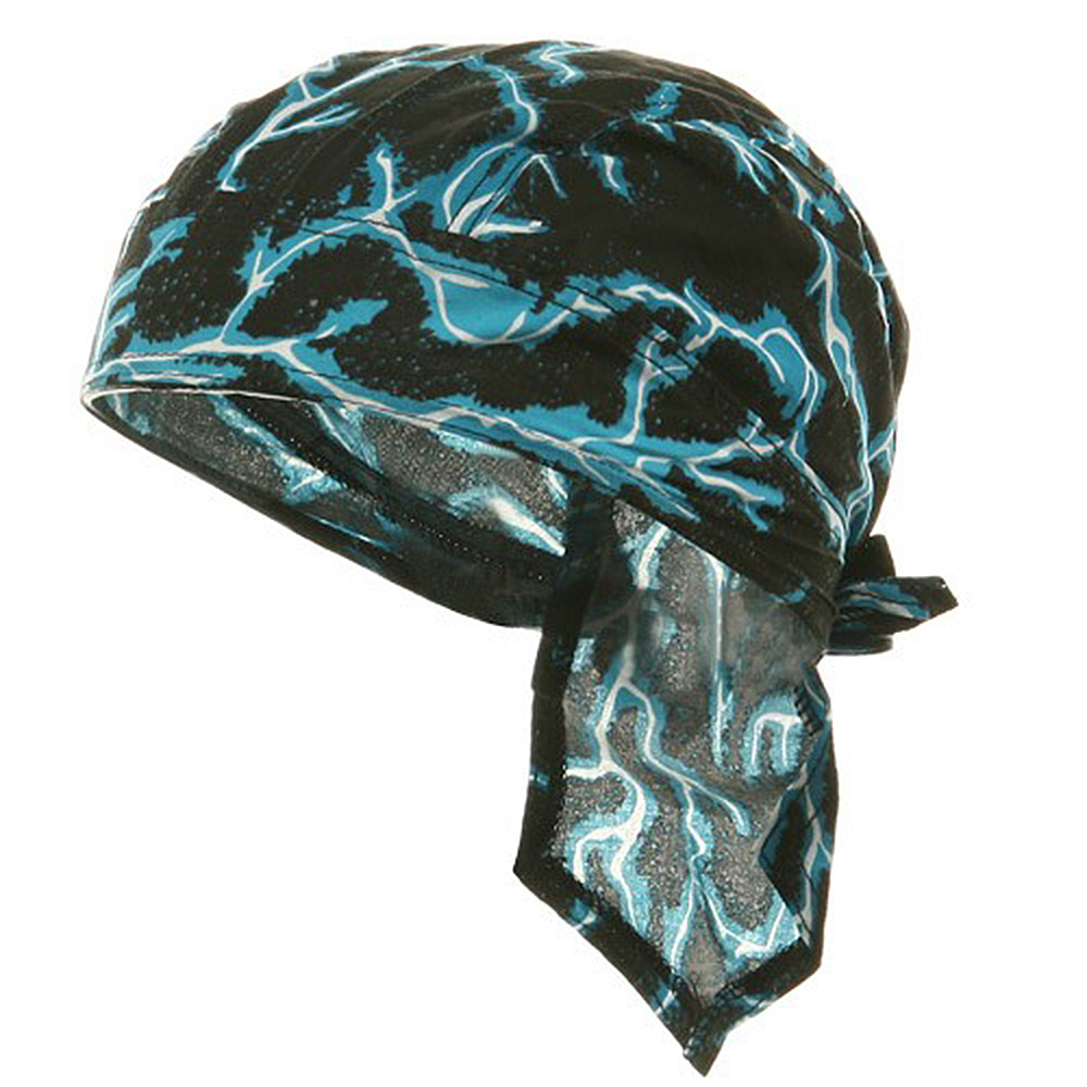 Biker Series Headgears-Blue_Lightning - Hats and Caps Online Shop - Hip Head Gear