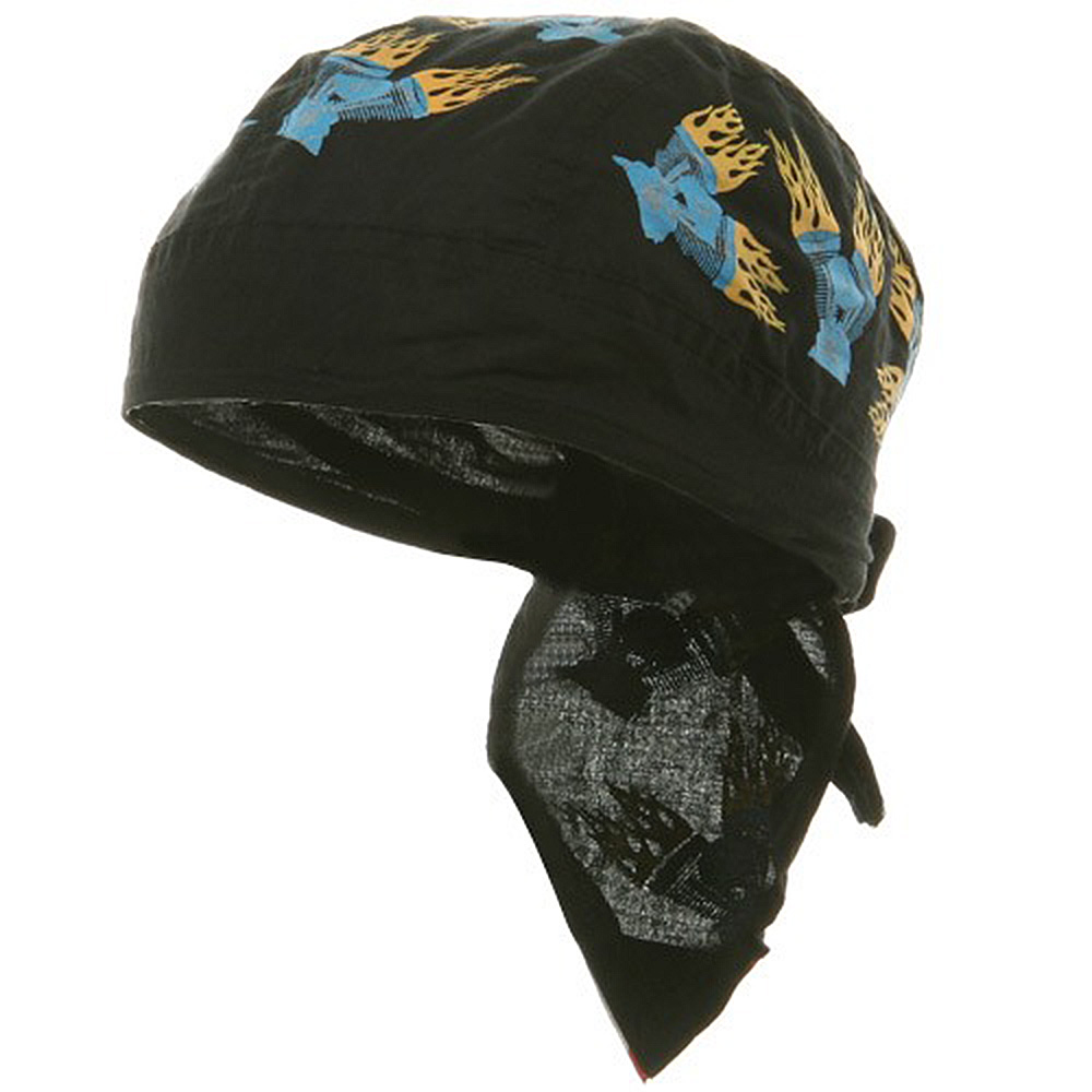 Biker Series Headwrap-Twin Engine - Hats and Caps Online Shop - Hip Head Gear