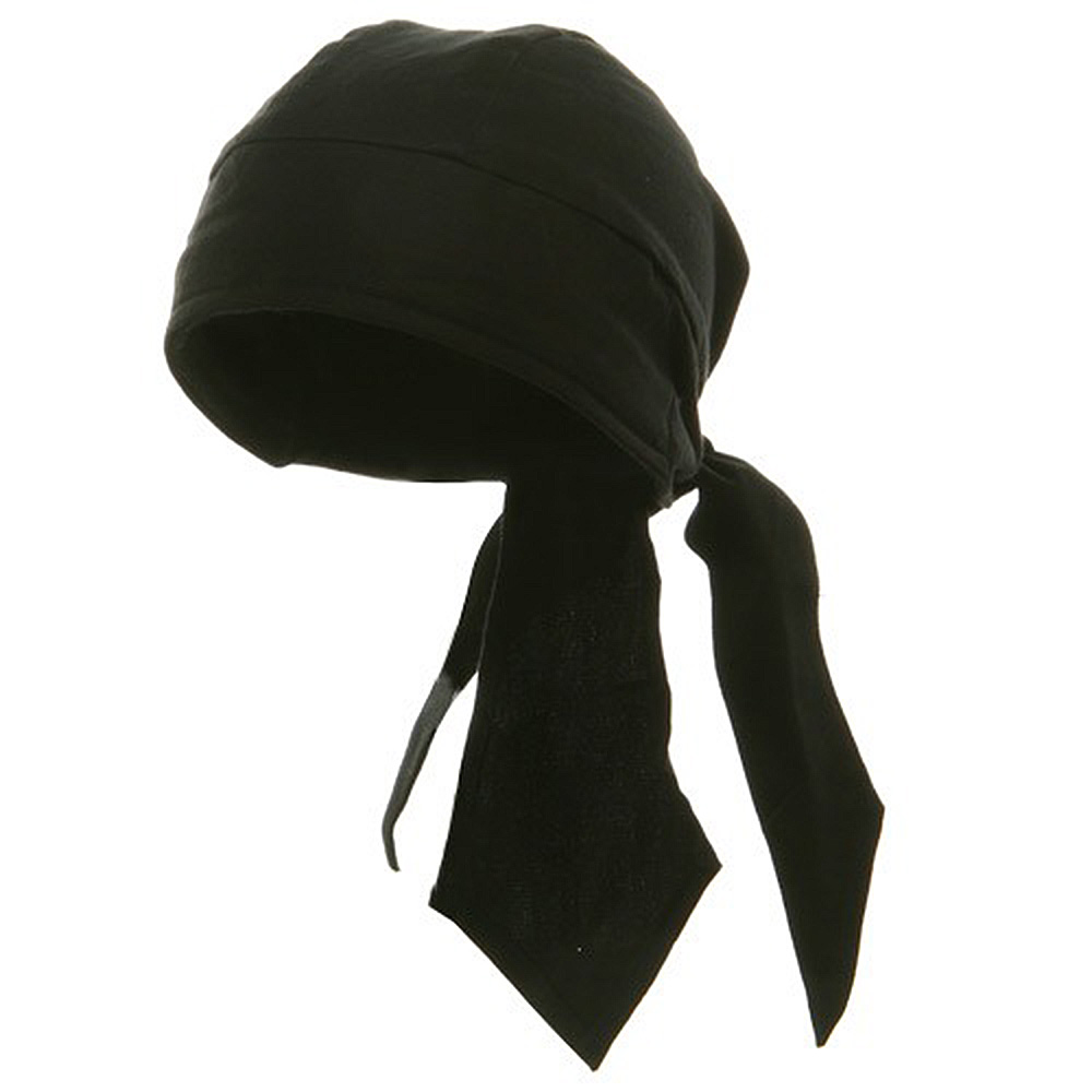Deluxe Series Head Wraps- Solid Black - Hats and Caps Online Shop - Hip Head Gear