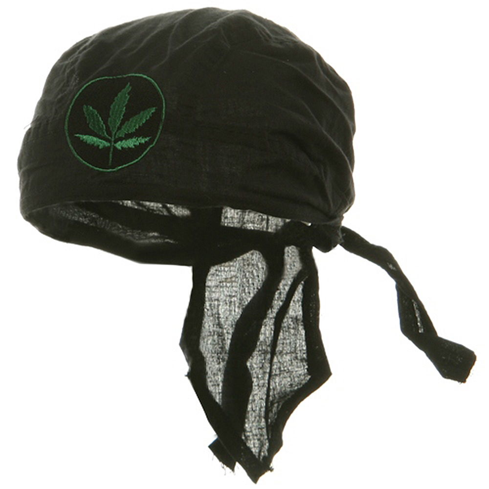 Embroidery Series Head Wrap-Green Leaf