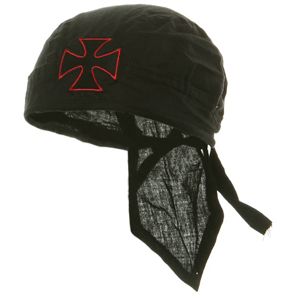 Embroidery Series Head Wrap-Chopper Red - Hats and Caps Online Shop - Hip Head Gear