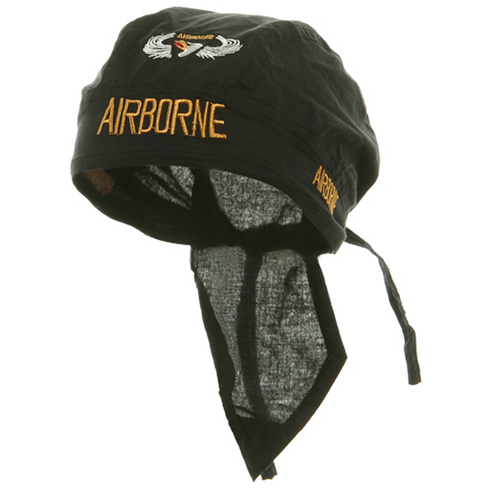 Embroidery Series Head Wraps-Airborne - Hats and Caps Online Shop - Hip Head Gear