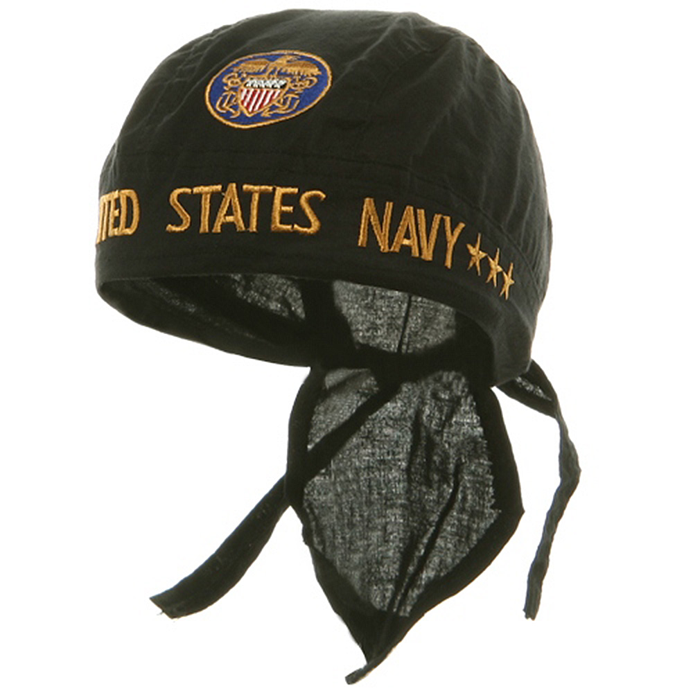 Embroidery Series Head Wraps-United States Navy - Hats and Caps Online Shop - Hip Head Gear