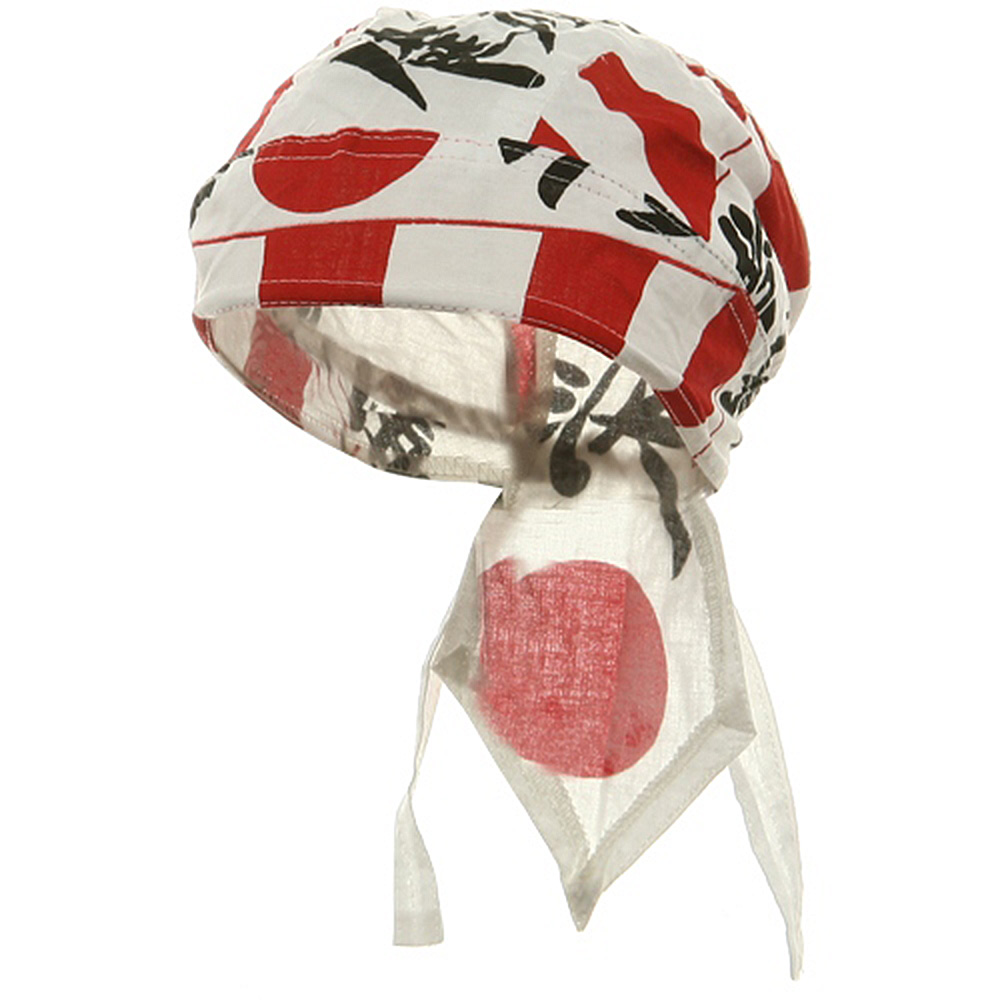 Flag Series Headwraps-Japanese Flag - Hats and Caps Online Shop - Hip Head Gear