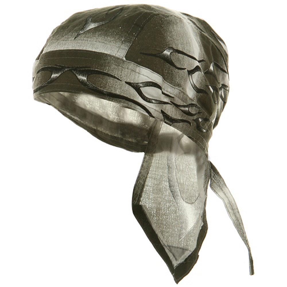 Flame Series Head Wraps-Tank Flame Silver - Hats and Caps Online Shop - Hip Head Gear