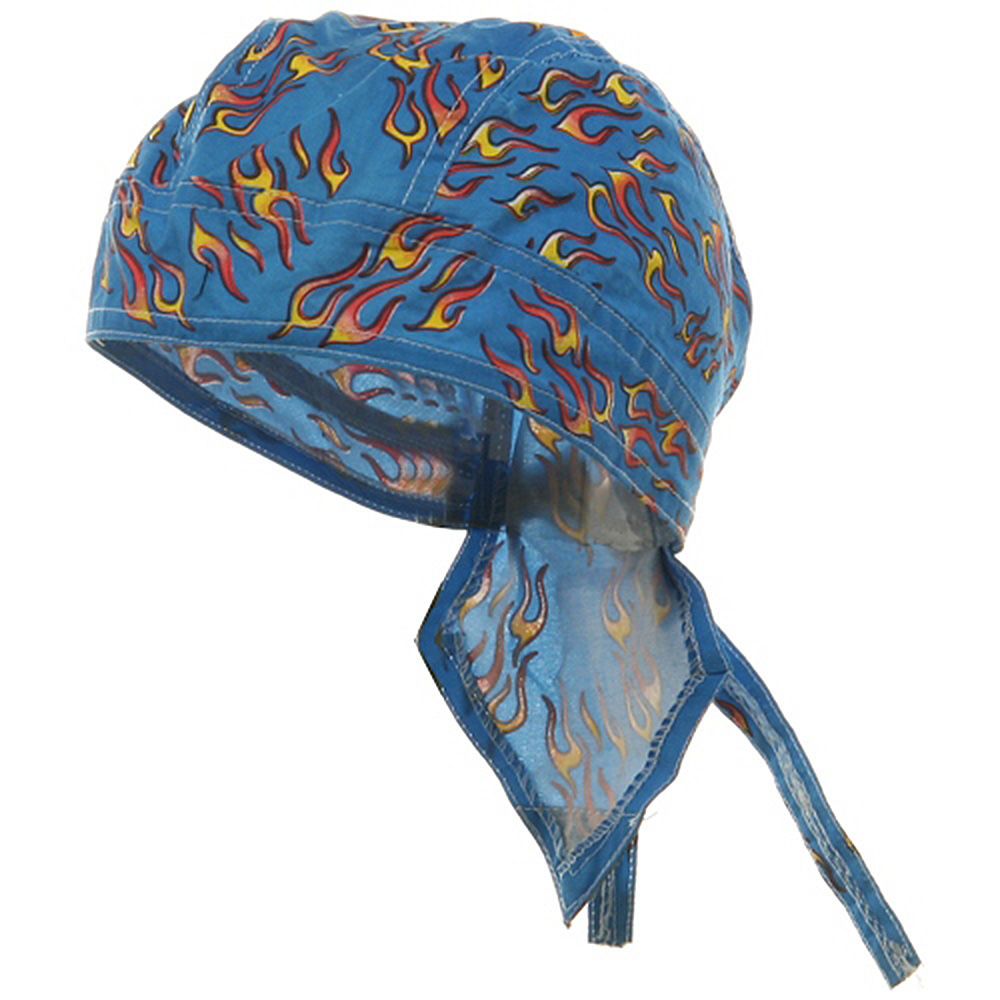 Flame Series Headwrap-Small Blue - Hats and Caps Online Shop - Hip Head Gear