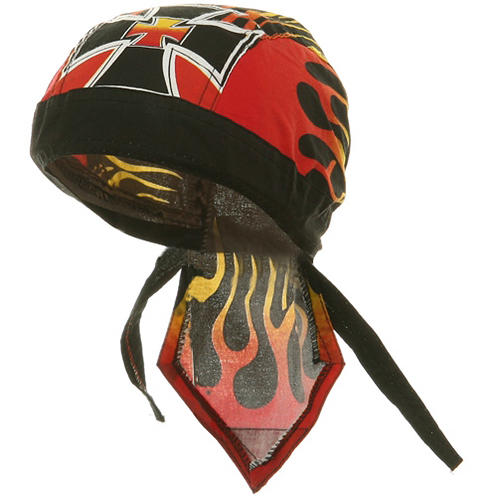 Flame Series Head Wrap-Flaming Cross - Hats and Caps Online Shop - Hip Head Gear