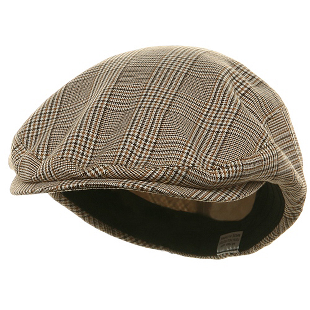Big Size Elastic Plaid Fashion Ivy Cap - Beige - Hats and Caps Online Shop - Hip Head Gear