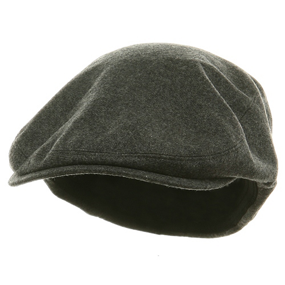 Big Size Elastic Wool Ivy Cap - Charcoal - Hats and Caps Online Shop - Hip Head Gear