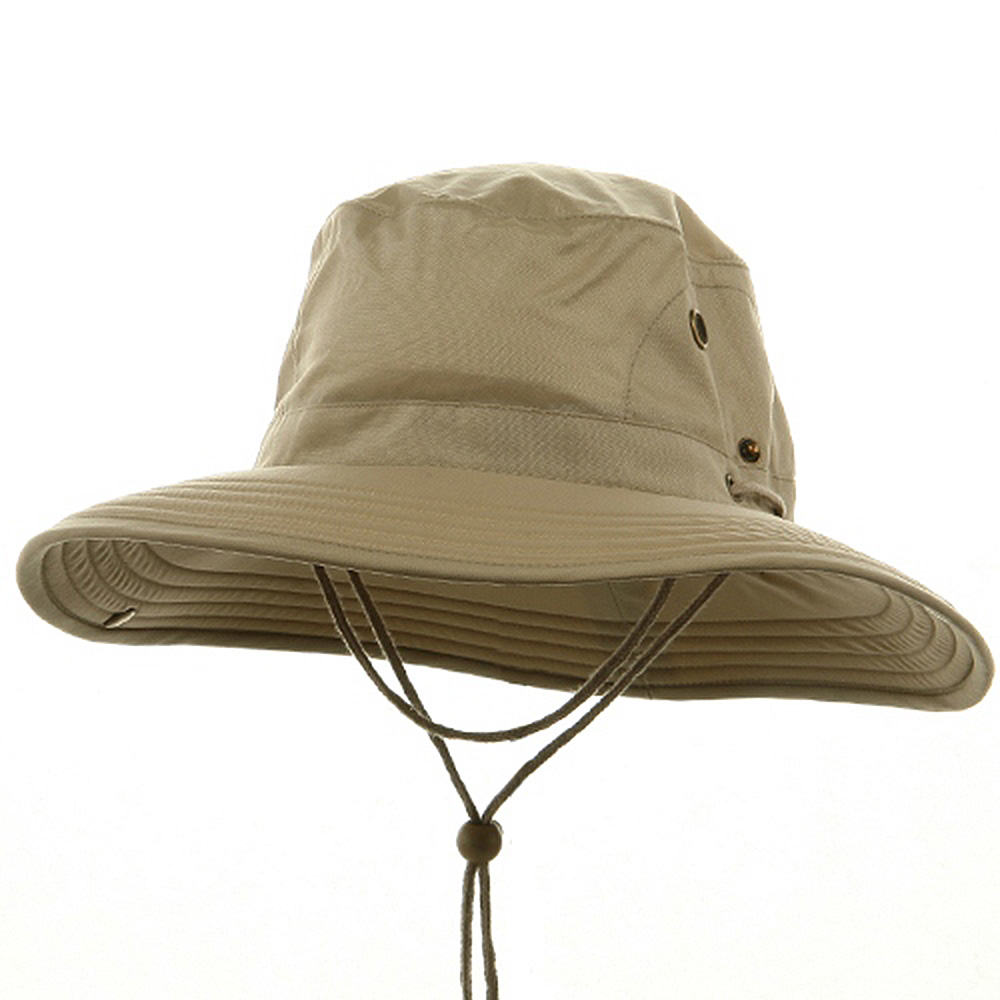 Big Size Floatable Nylon Oxford Hat - Khaki - Hats and Caps Online Shop - Hip Head Gear