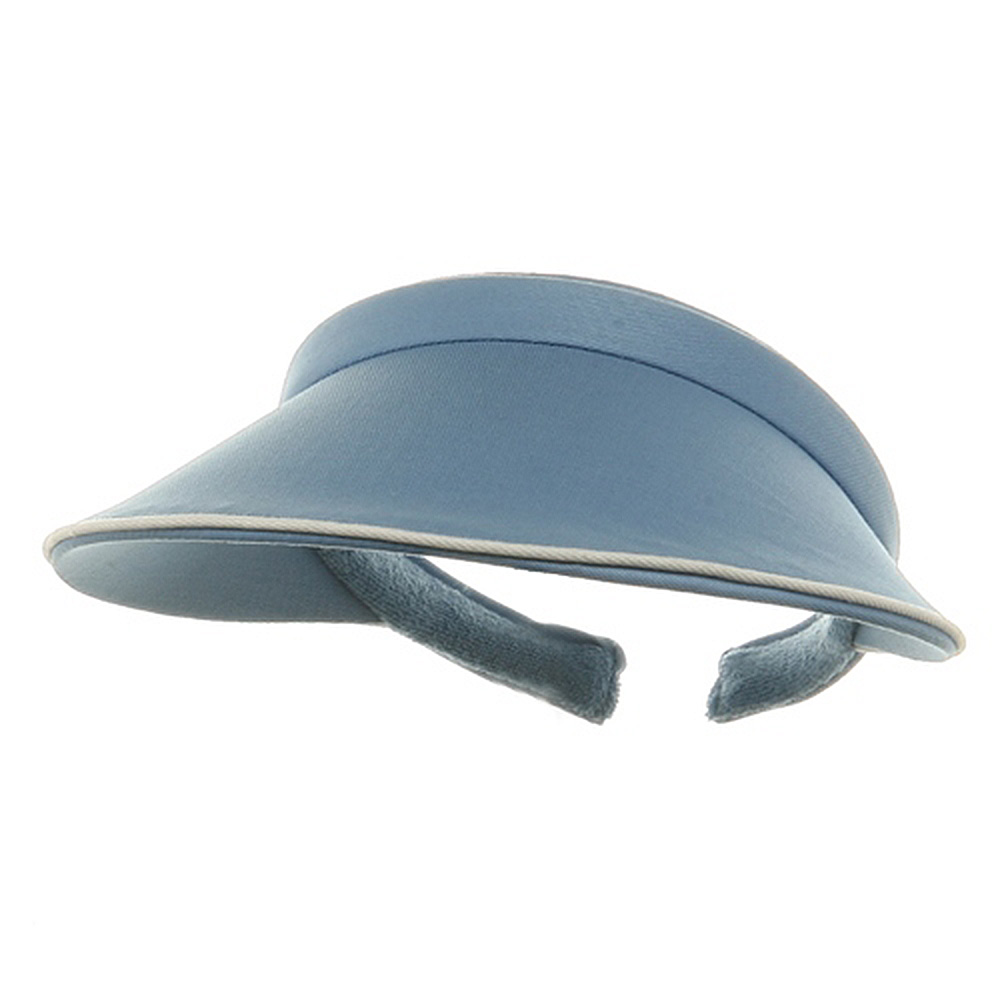Piping Clip On Visor-Lt Blue - Hats and Caps Online Shop - Hip Head Gear