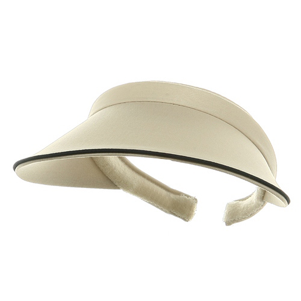 Piping Clip On Visor-Putty - Hats and Caps Online Shop - Hip Head Gear