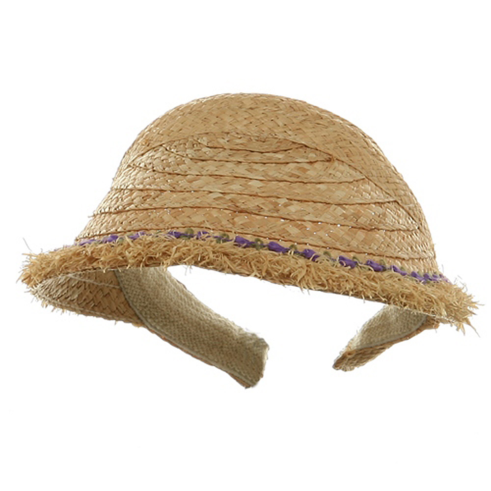 Raffia Straw Clip On-Natural Purple - Hats and Caps Online Shop - Hip Head Gear