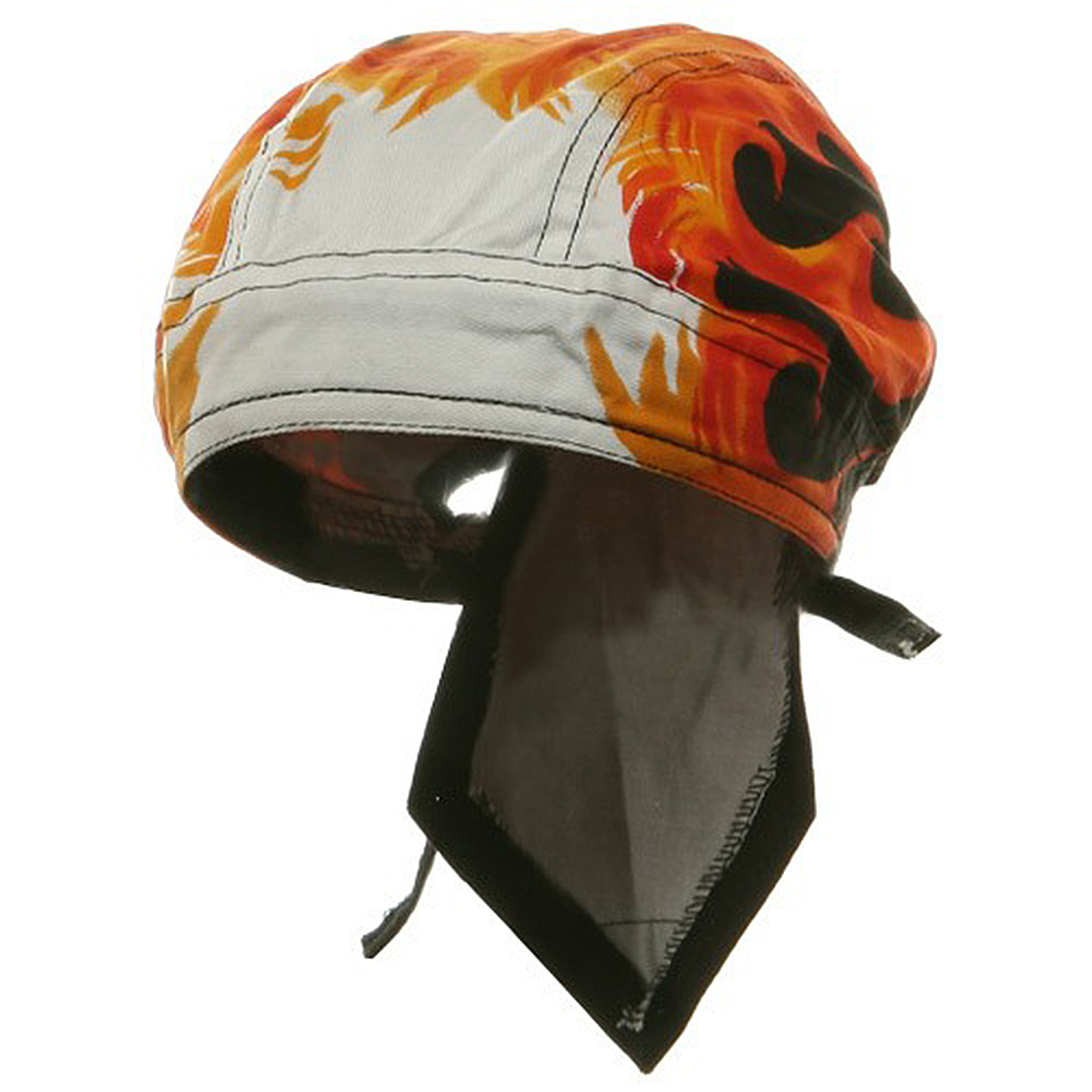 Sweat Band Series Headwraps-White Flames - Hats and Caps Online Shop - Hip Head Gear