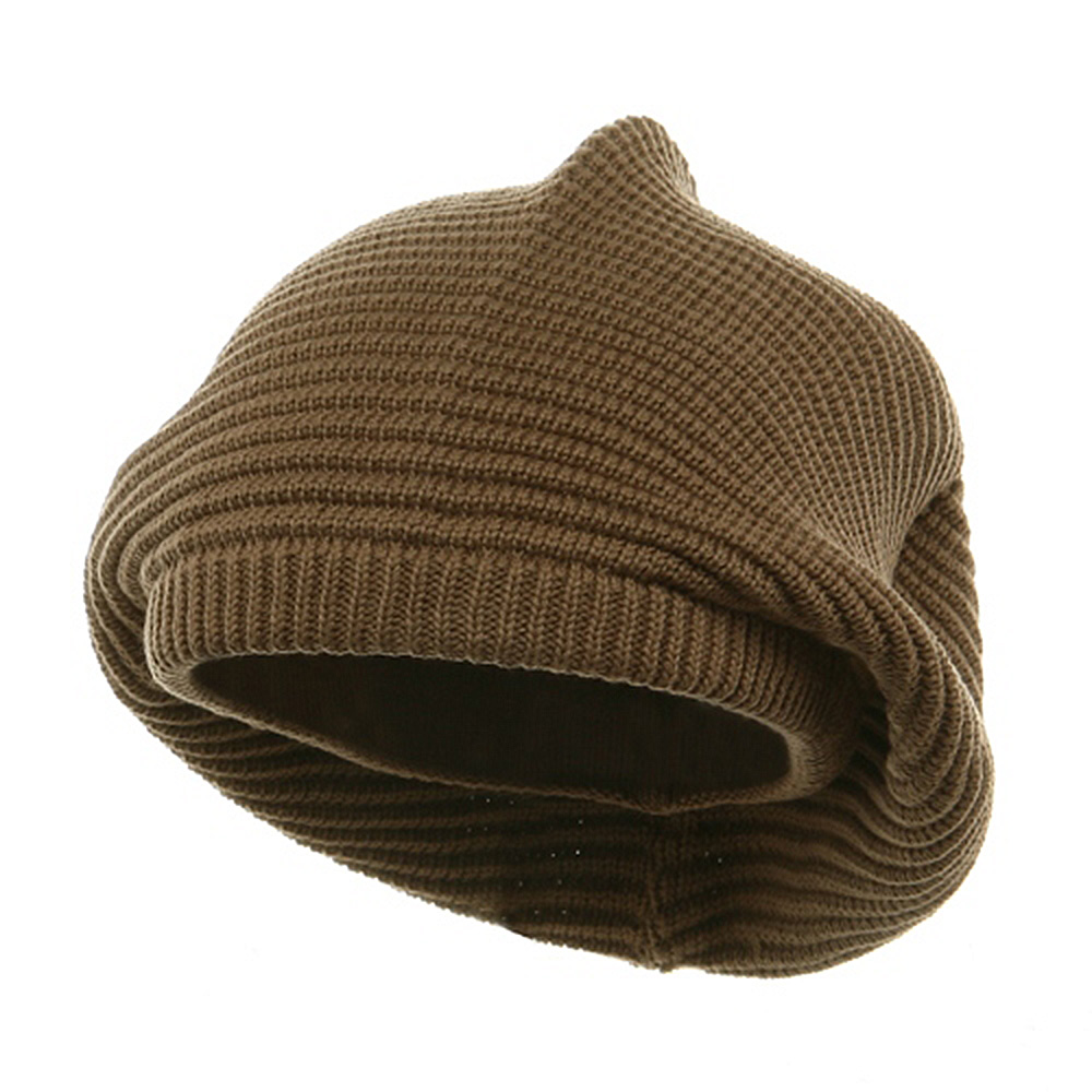 Medium Crown New rasta Beanie Hat - khaki - Hats and Caps Online Shop - Hip Head Gear