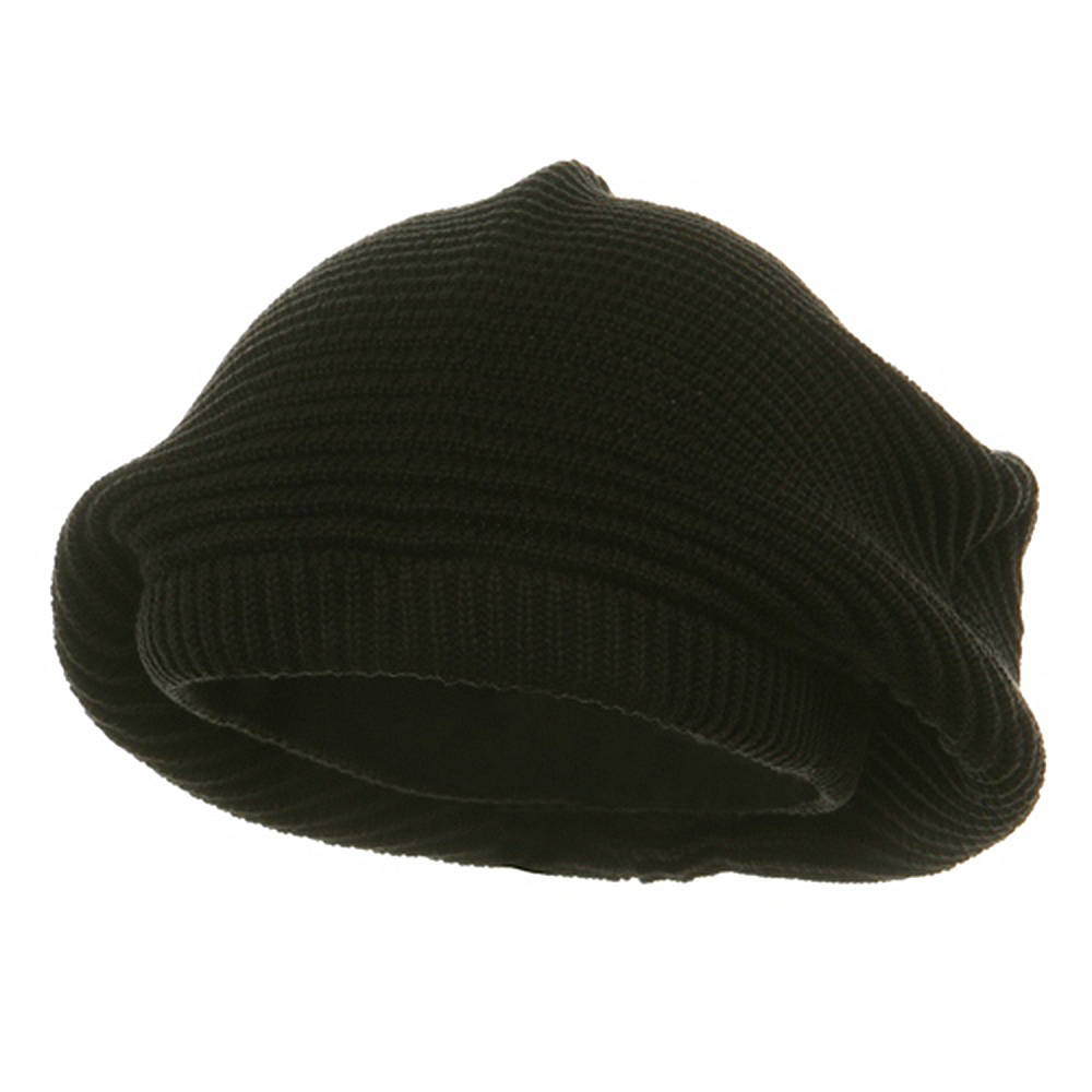 Medium Crown New rasta Beanie Hat - Black - Hats and Caps Online Shop - Hip Head Gear