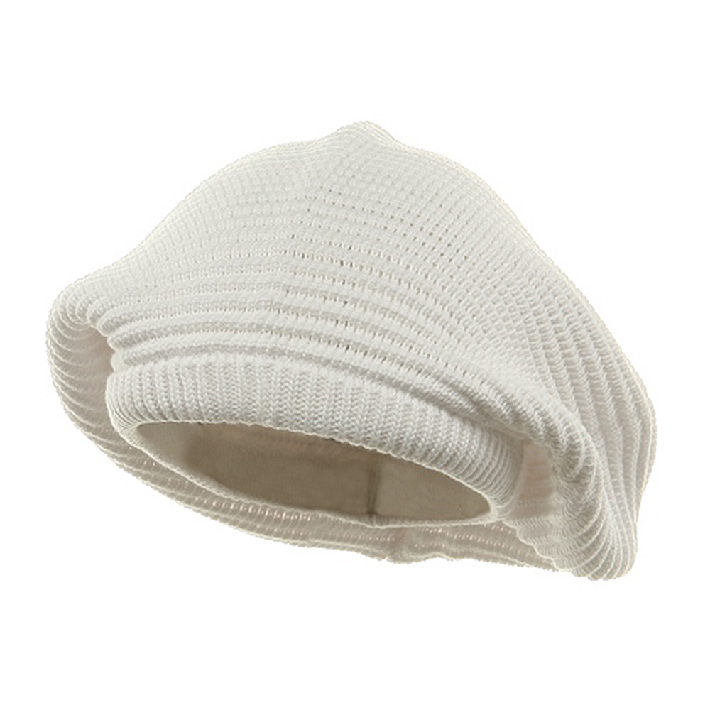 Medium Crown New rasta Beanie Hat - White - Hats and Caps Online Shop - Hip Head Gear
