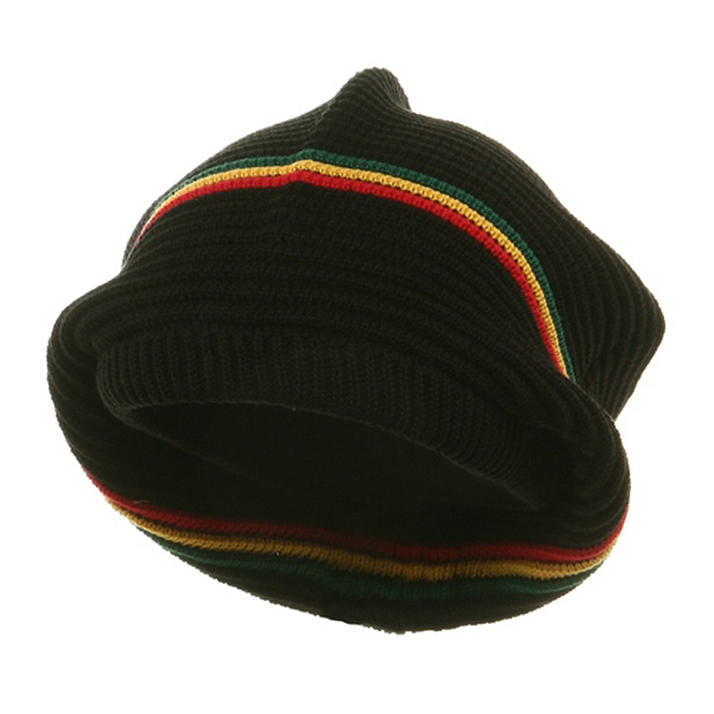 Medium Crown New rasta Beanie Hat - Black rgy - Hats and Caps Online Shop - Hip Head Gear