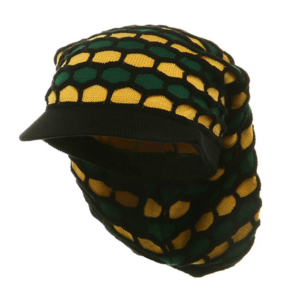 New Rasta Honey Long Hat-Black Green Yellow - Hats and Caps Online Shop - Hip Head Gear