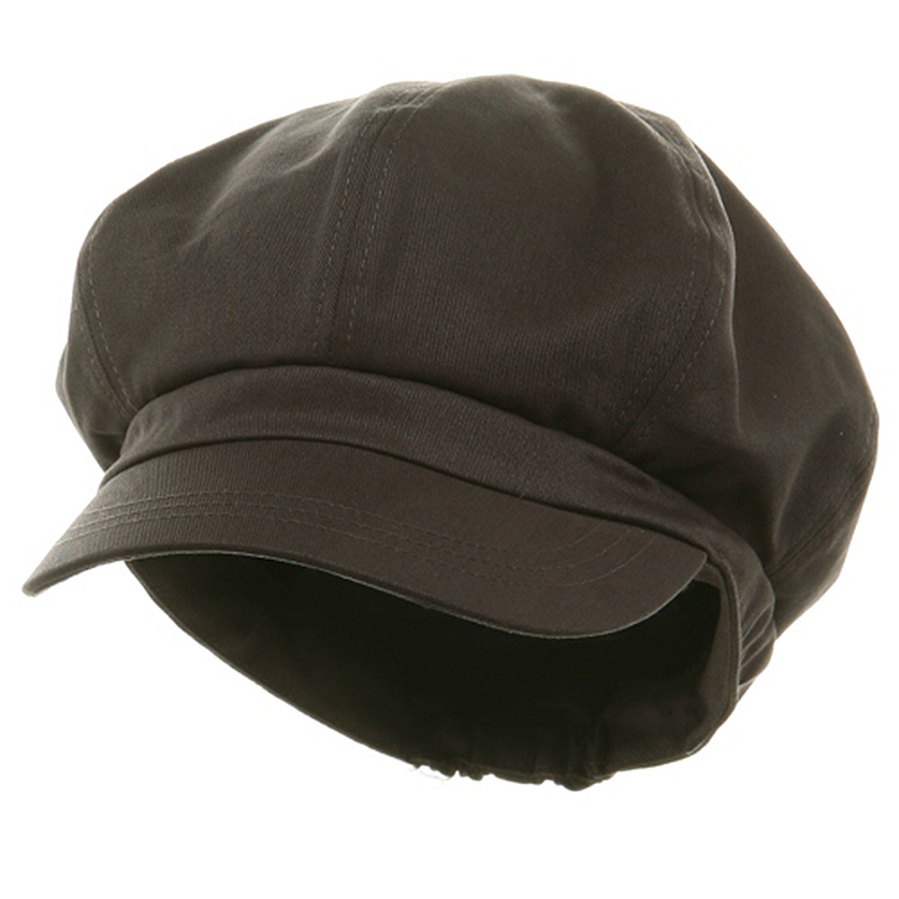 Big Size Cotton Newsboy Hat - Charcoal - Hats and Caps Online Shop - Hip Head Gear