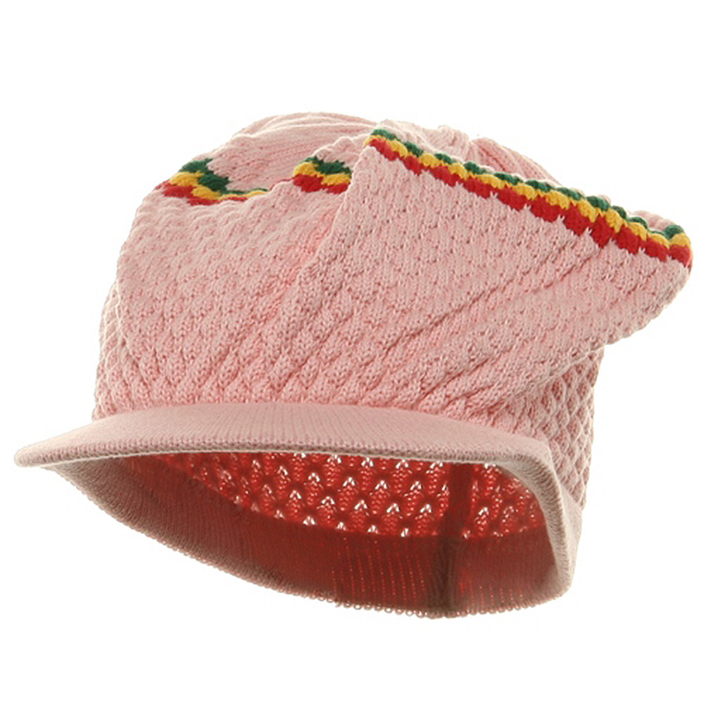 Rasta RGY Beanies Visors (02)-Pink - Hats and Caps Online Shop - Hip Head Gear