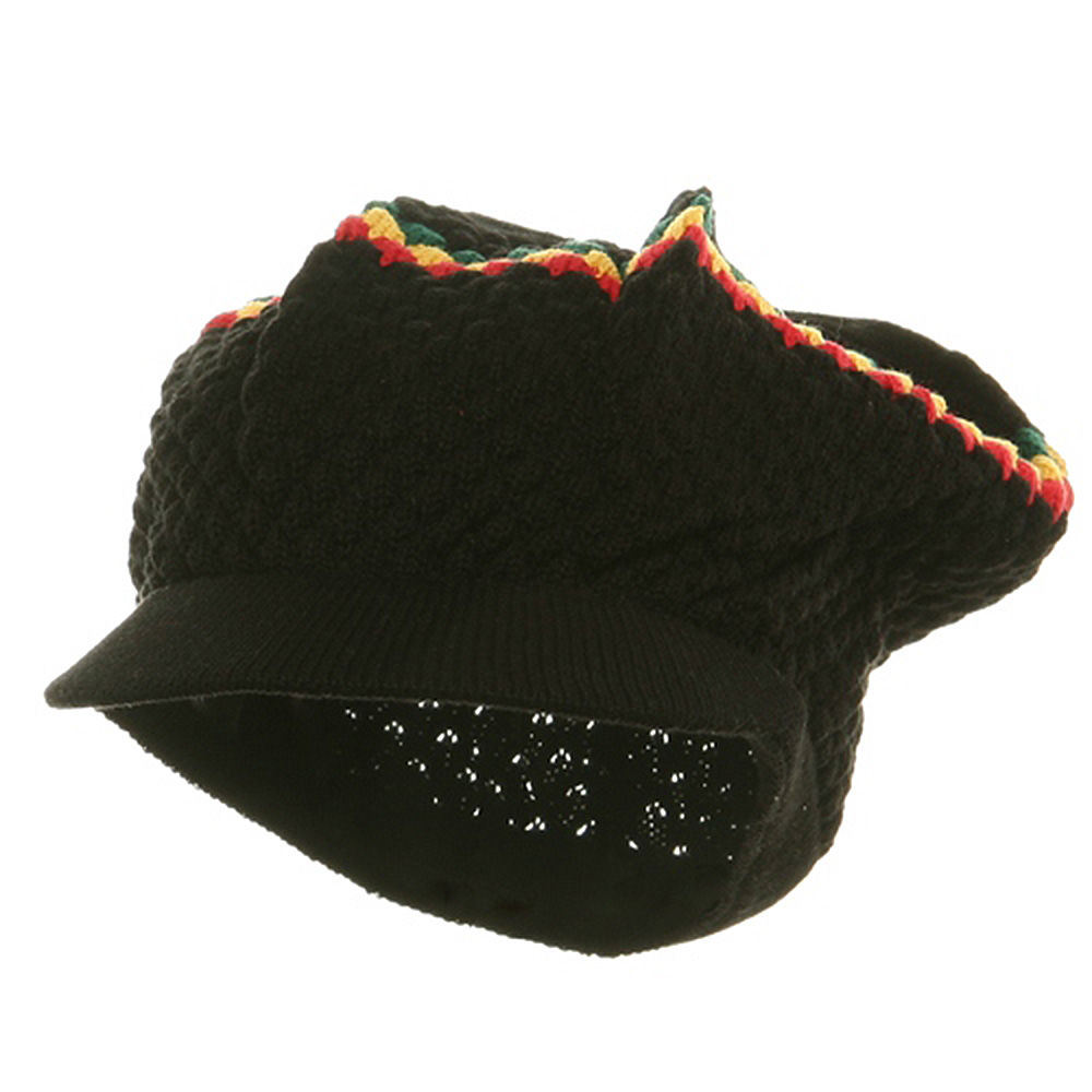 Rasta RGY Beanies Visors (02)-Black RGY - Hats and Caps Online Shop - Hip Head Gear