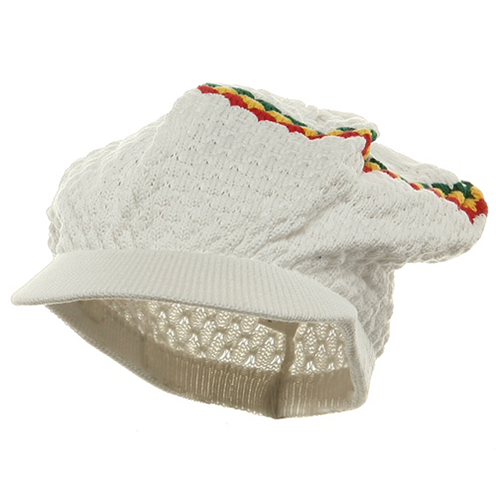 Rasta RGY Beanies Visors (02)-White RGY - Hats and Caps Online Shop - Hip Head Gear