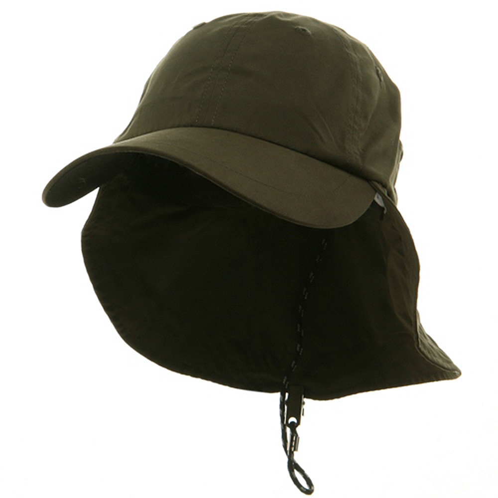 Polyester Flap Hat-Olive - Hats and Caps Online Shop - Hip Head Gear