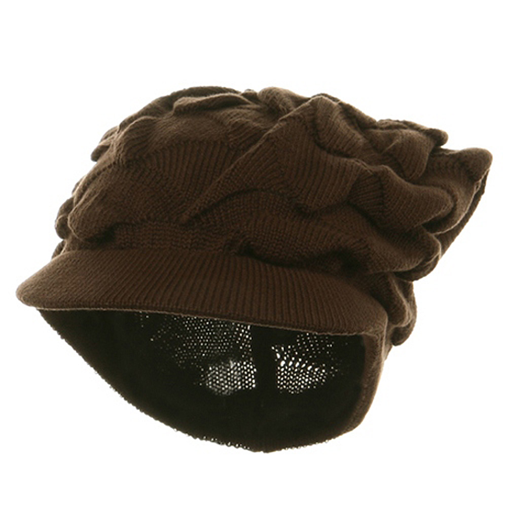 New Rasta Visor Hat - Brown - Hats and Caps Online Shop - Hip Head Gear