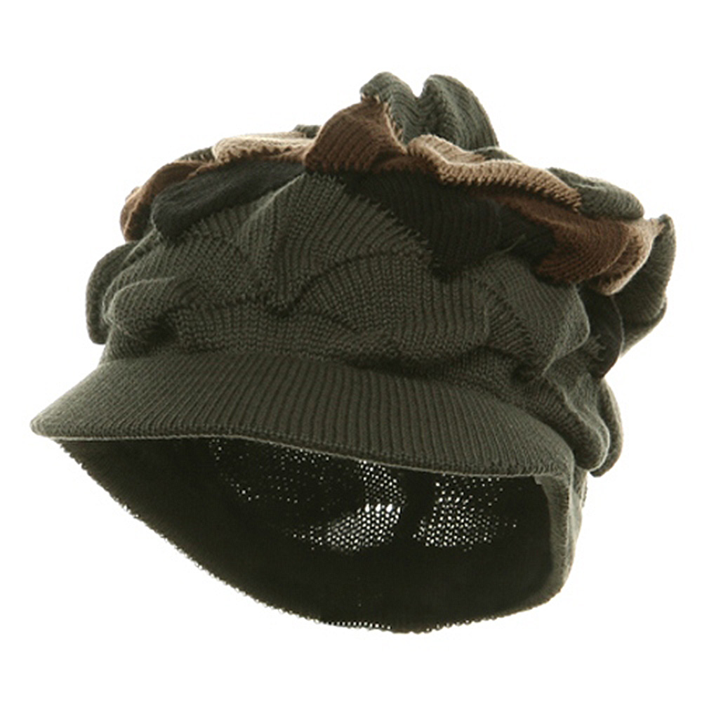 New Rasta Visor Hat - Olive Khaki Brown - Hats and Caps Online Shop - Hip Head Gear