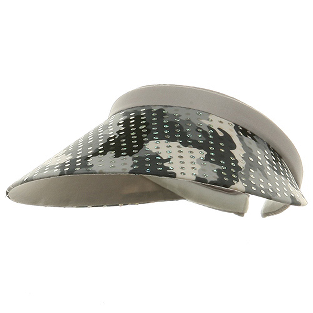 Fancy Clip On Visor - Grey - Hats and Caps Online Shop - Hip Head Gear